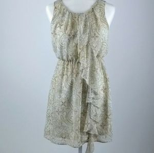 H &M ruffled front dress size 8